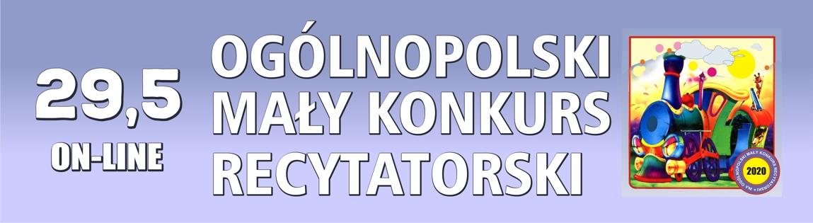 29,5 Ogólnopolski Mały Konkurs Recytatorski on-line