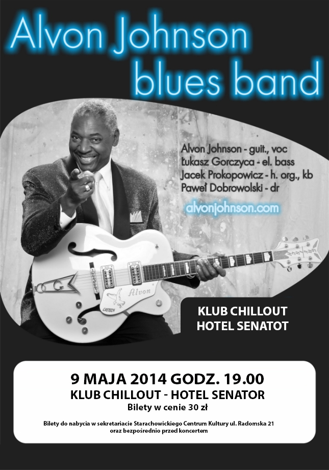 Archiwum SCK. Alvon Johnson blues band -Koncert!