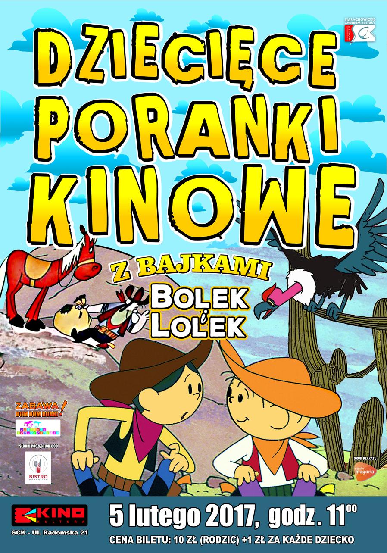 Archiwum SCK. Dziecięce poranki kinowe z bajkami Bolek i Lolek.