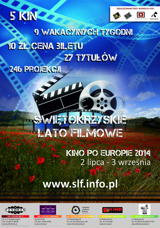 Archiwum SCK. ŚWIĘTOKRZYSKIE LATO FILMOWE 2014: KINO PO EUROPIE