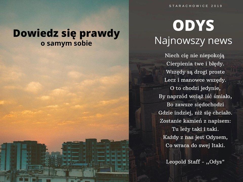 """Wiersz Leopolda Staffa - """"Odys"""""""