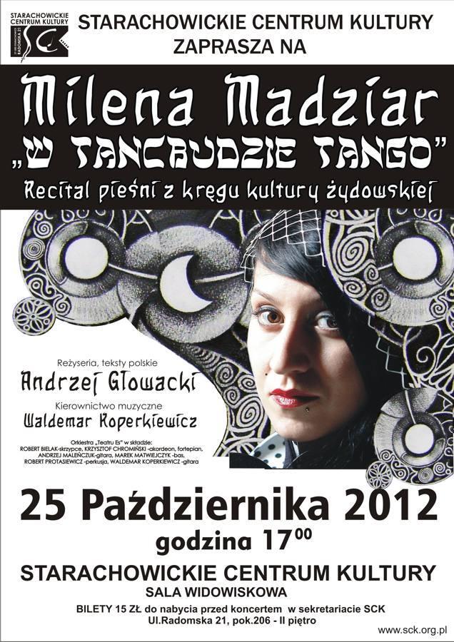 """Archiwum SCK. """"W tancbudzie Tango"""". Recital Mileny Madziar"""