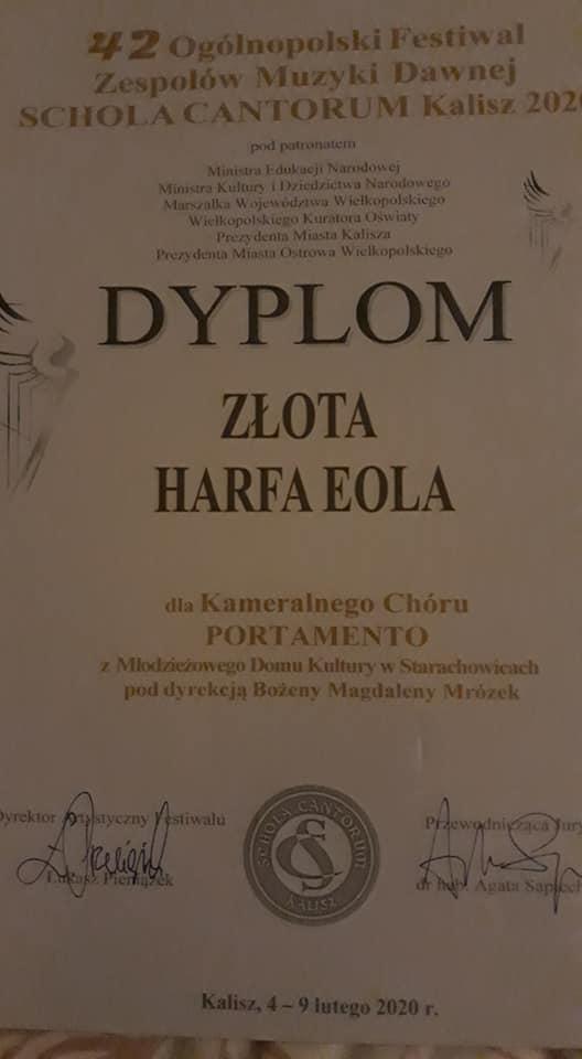 Archiwum MDK – Złota Harfa Eola dla Portamento