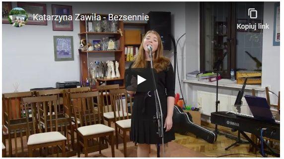 Kasia zawiła spiewa piosenke bezsennie - link