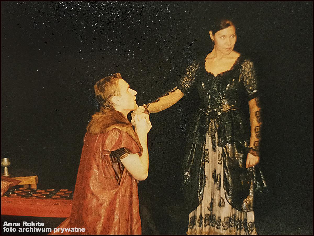 Anna Rokita podczas wystepu