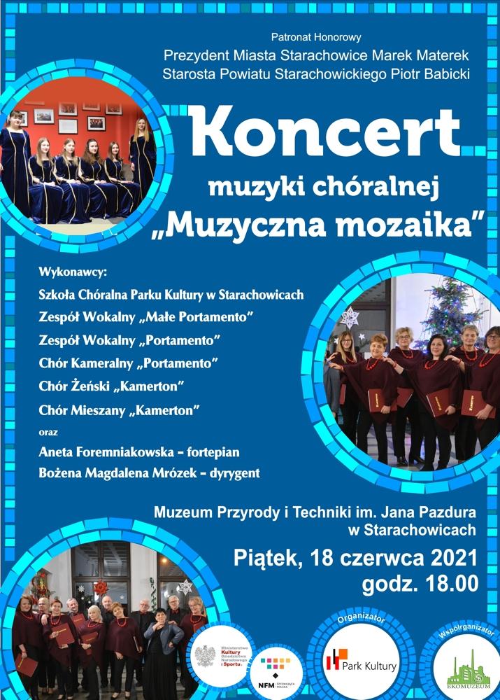 """Koncert muzyki chóralnej """"Muzyczna mozaika"""" w Muzeum Przyrody i Techniki."""