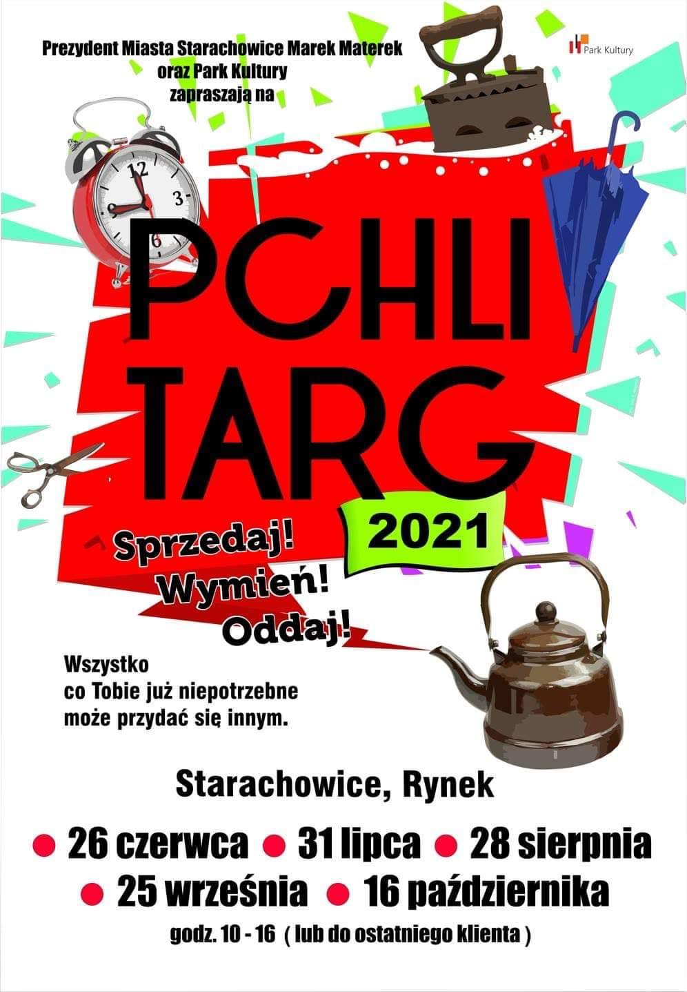 Pchli Targ - baner informacyjny
